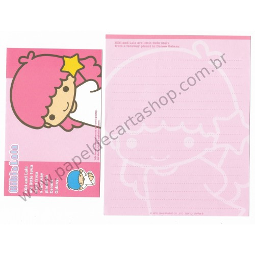 Ano 2003. Conjunto de Papel de Carta Kiki & Lala Dream Galaxy RS1 Sanrio