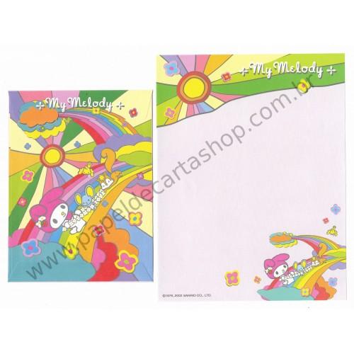 Ano 2002. Conjunto de Papel de Carta My Melody RS Sanrio