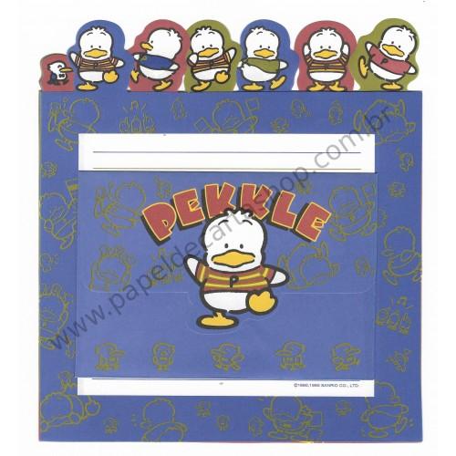 Ano 1995. Conjunto de Papel de Carta Pekkle Q Antigo (Vintage) Sanrio
