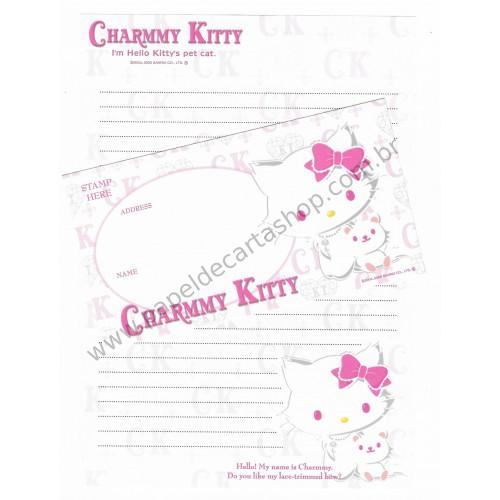 Ano 2005. Conjunto de Papel de Carta Charmmy Kitty GG Sanrio