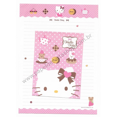 Ano 2010. Conjunto de Papel de Carta Hello Kitty Biscuit G Sanrio