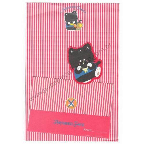 Ano 1985. Conjunto de Papel de Carta Antigo Hayseed Jake (Vintage) Sanrio Japão