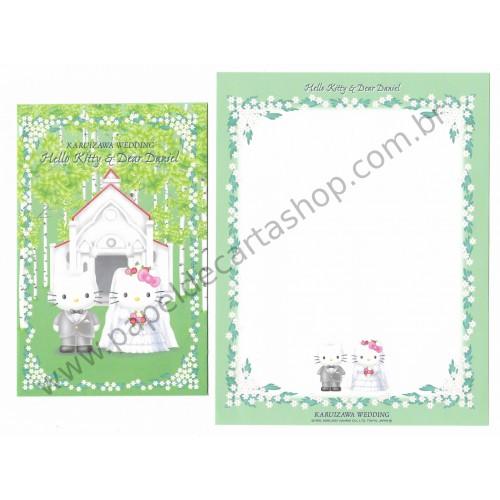 Ano 2001. Conjunto de Papel de Carta Gotōchi Kitty Regional Japão - Karuizawa Wedding - Sanrio