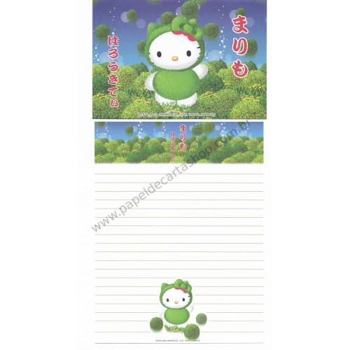 Ano 2001. Conjunto de Papel de Carta Gotōchi Kitty Regional Japão 02- Sanrio
