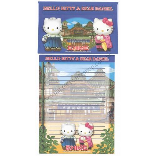 Ano 2002. Conjunto de Papel de Carta Gotōchi Kitty Regional Japão - Ehime - Sanrio