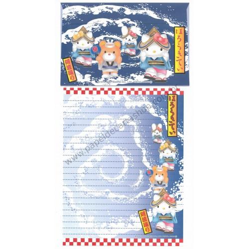 Ano 2002. Conjunto de Papel de Carta Gotōchi Kitty Regional Japão 29 - Sanrio