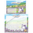 Ano 2003. Conjunto de Papel de Carta GOTŌCHI Kitty Regional Japão - Lavander 2 - Sanrio