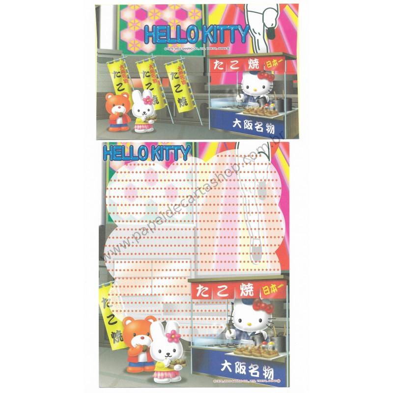 Ano 2003. Conjunto de Papel de Carta Gotōchi Kitty Regional Japão - Sanrio