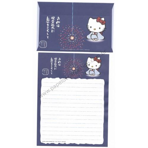 Ano 2003. Conjunto de Papel de Carta Gotōchi Kitty Regional Japão 26 - Sanrio