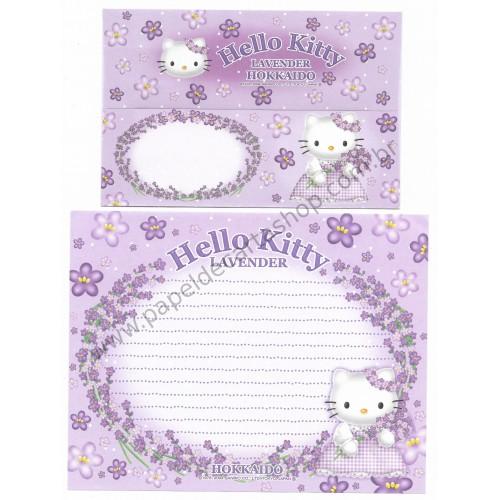 Ano 2004. Conjunto de Papel de Carta Gotōchi Kitty Regional Japão - Lavender - Sanrio
