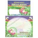 Ano 2005. Conjunto de Papel de Carta Gotōchi Kitty Regional Japão - Hokkaido 05 - Sanrio