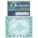 Ano 2008. Conjunto de Papel de Carta Gotōchi Kitty Hokkaido Marimo Sanrio