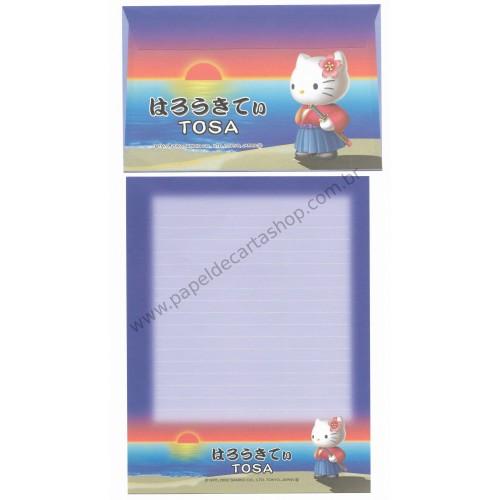 Ano 2002. Conjunto de Papel de Carta Gotochi Kitty Tosa Sanrio