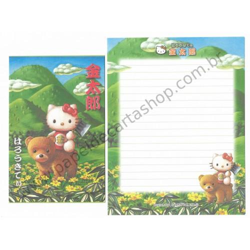 Ano 2001. Conjunto de Papel de Carta Kitty Regional Sanrio Japão