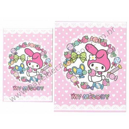 Ano 2013. Conjunto de Papel de Carta My Melody Candy Sanrio