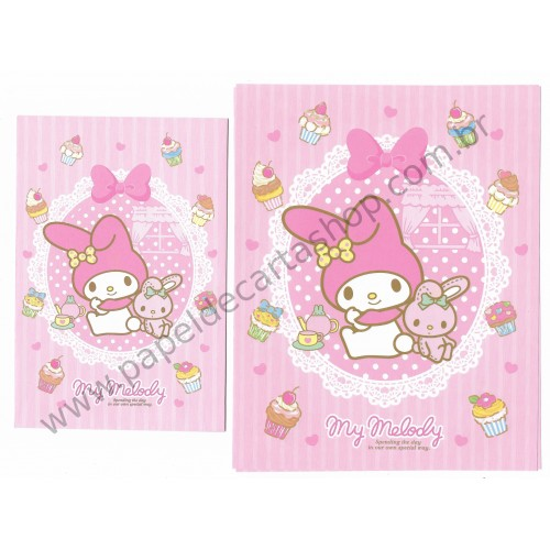 Ano 2013. Conjunto de Papel de Carta My Melody Our Own Special Way Sanrio