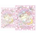 Ano 2013. Conjunto de Papel de Carta Little Twin Stars Dazzling Starlight Sanrio