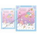 Ano 2013. Conjunto de Papel de Carta Little Twin Stars Magic Wand Sanrio