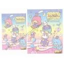 Ano 2013. Conjunto de Papel de Carta Little Twin Stars Circus Sky Sanrio