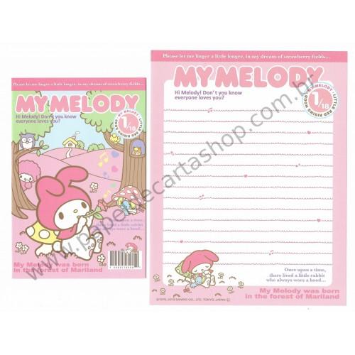 Ano 2013. Conjunto de Papel de Carta My Melody Little Red Riding Hood Sanrio