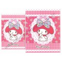 Ano 2014. Conjunto de Papel de Carta My Melody Red Sanrio