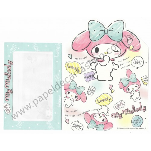 Ano 2015. Kit 2 Conjuntos de Papel de Carta My Melody Lovely & Cute Sanrio