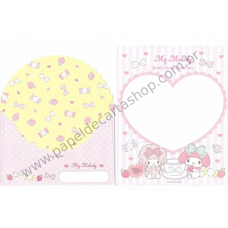 Ano 2015. Kit 2 Conjuntos de Papel de Carta My Melody M Sanrio