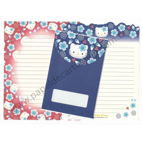 Ano 1999. Conjunto de Papel de Carta Hello Kitty Japão VM&AZ Sanrio
