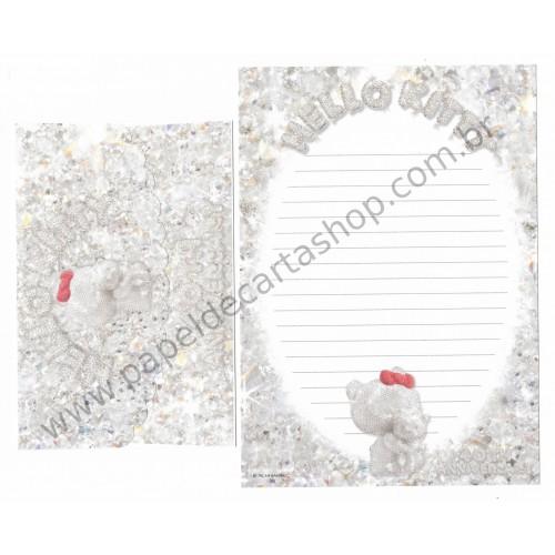 Ano 2014. Conjunto de Papel de Carta Hello Kitty 40th Anniversary Sanrio