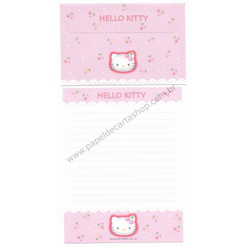 Ano 2004. Conjunto de Papel de Carta Hello Kitty Best Collection 03 Sanrio