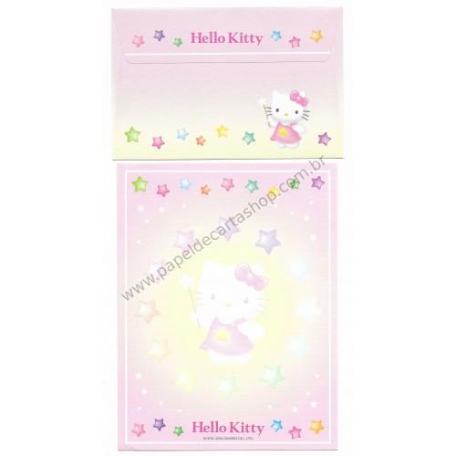 Ano 2004. Conjunto de Papel de Carta Hello Kitty Best Collection 04 Sanrio