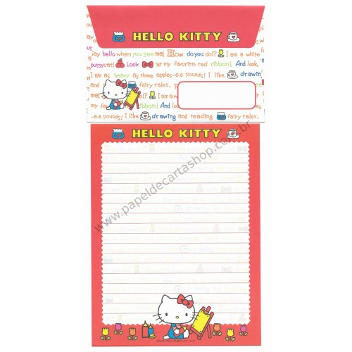 Ano 2004. Conjunto de Papel de Carta Hello Kitty Best Collection 05 Sanrio