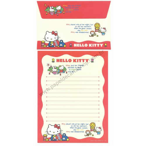 Ano 2004. Conjunto de Papel de Carta Hello Kitty Best Collection 07 Sanrio