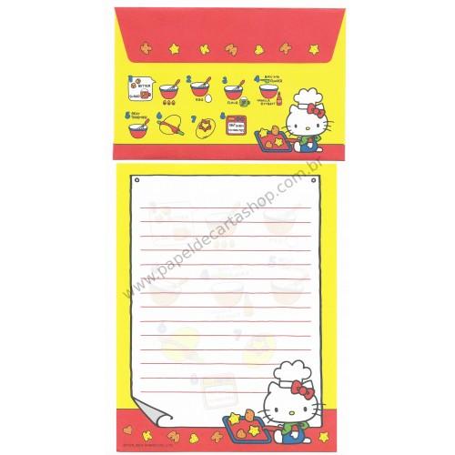Ano 2004. Conjunto de Papel de Carta Hello Kitty Best Collection 08 Sanrio