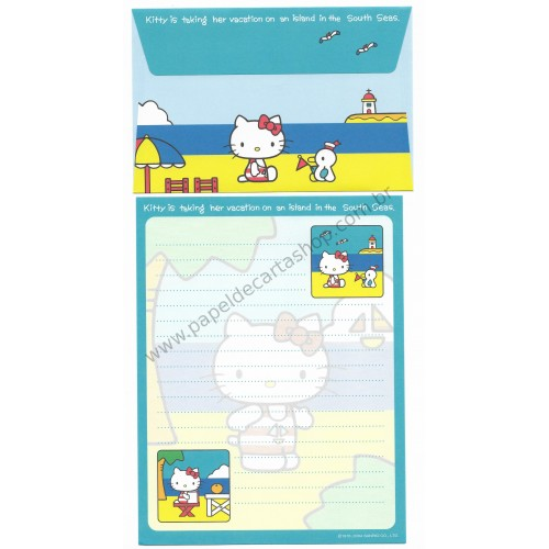 Ano 2004. Conjunto de Papel de Carta Hello Kitty Best Collection 09 Sanrio