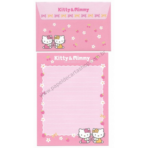 Ano 2004. Conjunto de Papel de Carta Hello Kitty Best Collection 11 Sanrio
