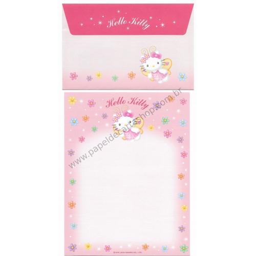 Ano 2004. Conjunto de Papel de Carta Hello Kitty Best Collection 13 Sanrio