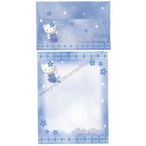Ano 2004. Conjunto de Papel de Carta Hello Kitty Best Collection 14 Sanrio