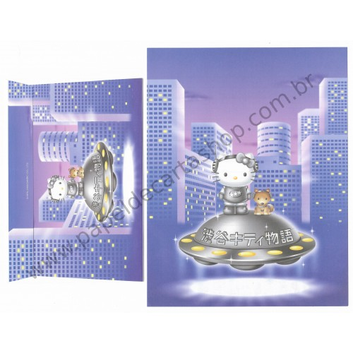 Ano 2000. Conjunto de Papel de Carta Hello Kitty 21st Century