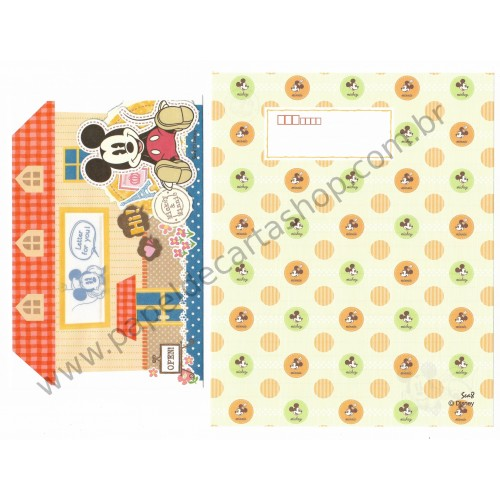 Conjunto de Papel de Carta Importado Disney Mickey Mouse Sea8