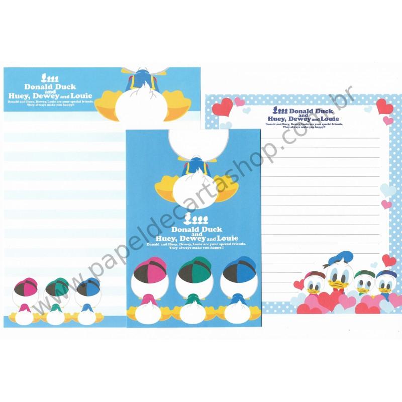 Conjunto de Papel de Carta Importado Disney Donald Duck Dupla (AZ)