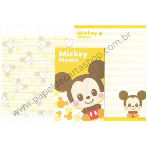 Conjunto de Papel de Carta Importado Disney Mickey Mouse Dupla (AM)