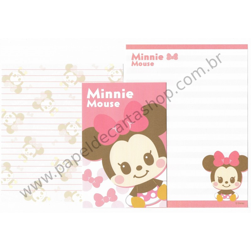 Conjunto de Papel de Carta Importado Disney Minnie Mouse Dupla (RS)