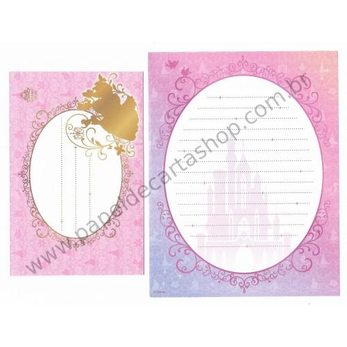 Conjunto de Papel de Carta Disney Cinderella