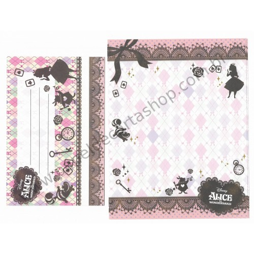 Conjunto de Papel de Carta Disney Alice in Worderland