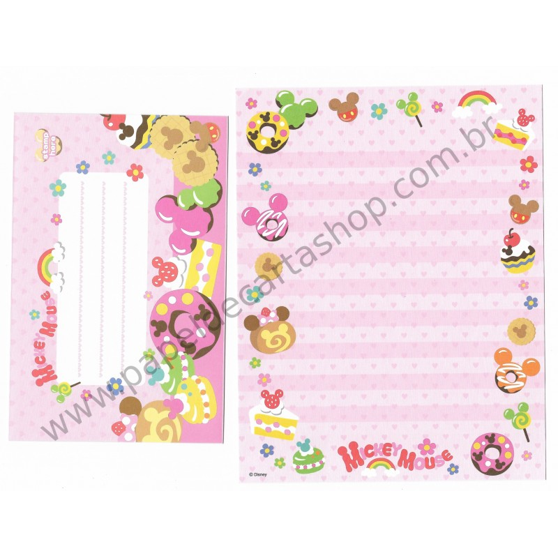 Conjunto de Papel de Carta Disney Mickey Mouse