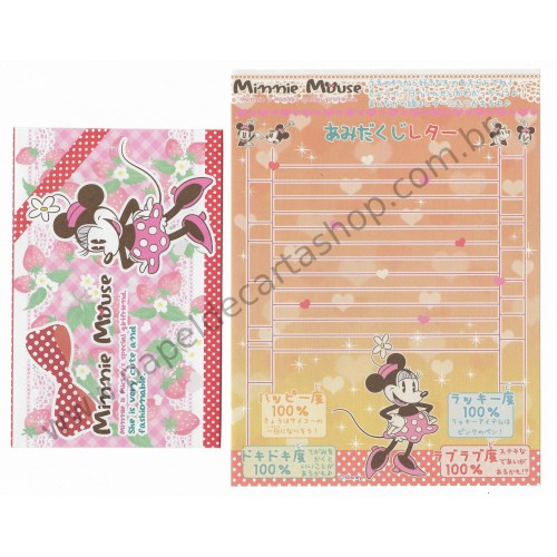 Conjunto de Papel de Carta Disney Minnie Mickey's Special Girlfriend