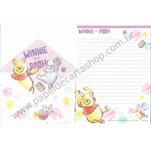 Conjunto de Papel de Carta Importado Disney Winnie the Pooh (LL)