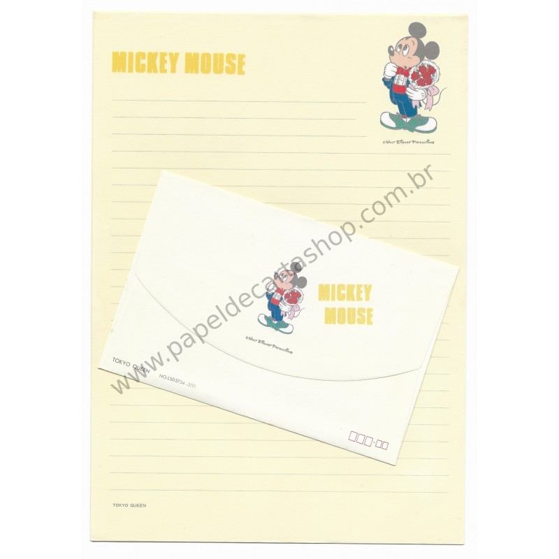 Conjunto de Papel de Carta Vintage Disney Mickey Mouse (AM)