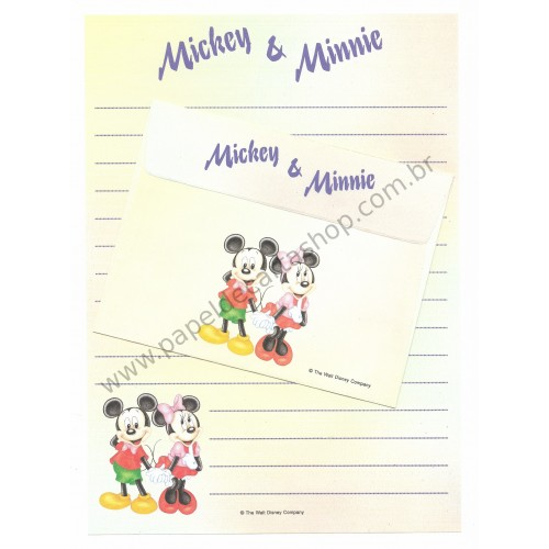 Conjunto de Papel de Carta Vintage Disney Mickey & Minnie